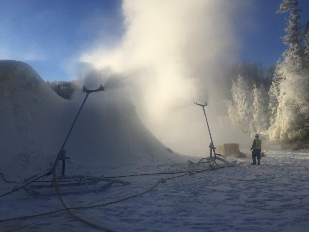 Snowmaking for Road Access